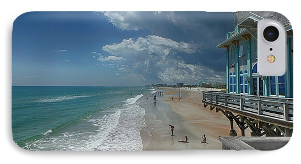 View From The Pier Phone Case by Judy Hall-Folde