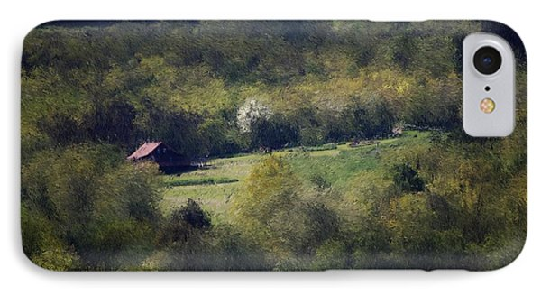 View From The Pond At The Hacienda Phone Case by David Lane