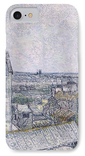 View From Vincent's Room In The Rue Lepic Phone Case by Vincent van Gogh