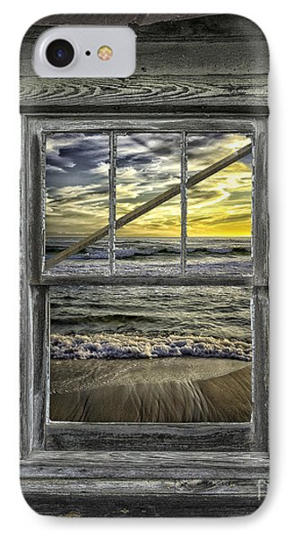 View From Weathered Beach Cottage IPhone Case by Walt Foegelle