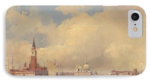 View In Venice With San Giorgio Maggiore Phone Case by Richard Parkes Bonington