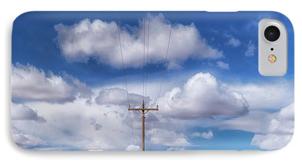 View Of A Phone Pole IPhone Case by Gary Warnimont