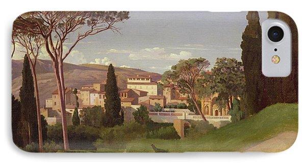 View Of A Villa IPhone Case by Jean Achille Benouville