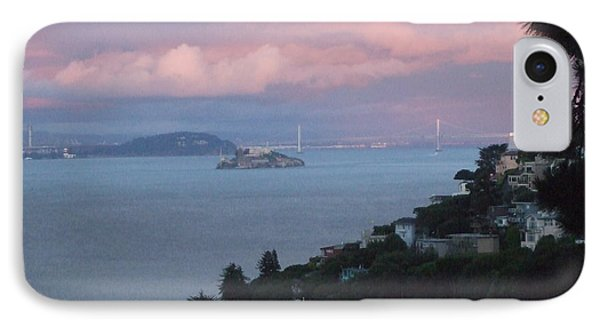 View Of Alcatraz From Our Sausalito Home IPhone Case by Rich Bertolina
