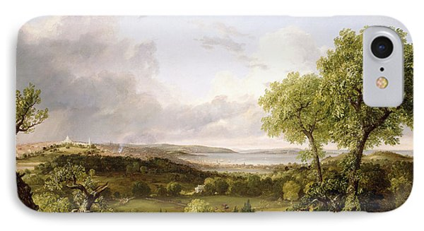View Of Boston IPhone Case by Thomas Cole