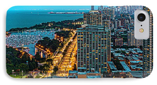 View Of Chicago From Park Place Towers Dsc4666 IPhone Case by Raymond Kunst