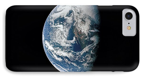 View Of Earth Taken From The Apollo 13 Phone Case by Stocktrek Images