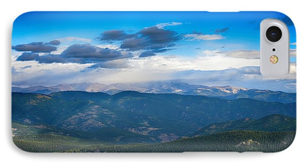 View Of Echo Lake From Above IPhone Case by Angelina Vick