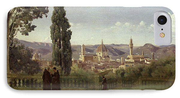 View Of Florence From The Boboli Gardens IPhone Case by Jean Baptiste Camille Corot