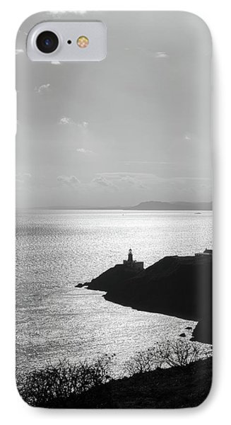 IPhone Case featuring the photograph View Of Howth Head With The Baily Lighthouse In Black And White by Semmick Photo