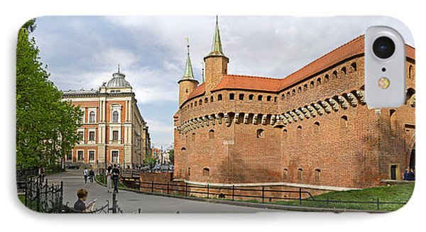 View Of Krakow Barbican, Krakow, Poland IPhone Case by Panoramic Images