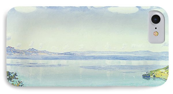 View Of Lake Leman From Chexbres IPhone Case by Ferdinand Hodler