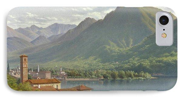 View Of Lake Lugano IPhone Case