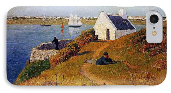 View Of Lorient In Brittany Phone Case by Henry Moret