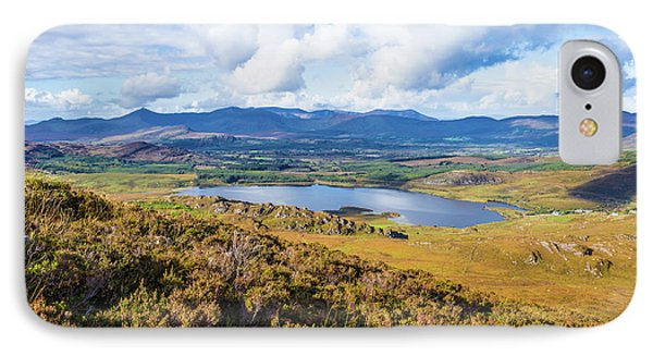IPhone Case featuring the photograph View Of Lough Acoose In Ballycullane From The Foothill Of Macgil by Semmick Photo