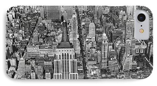 View Of Midtown Manhattan IPhone Case by Underwood Archives