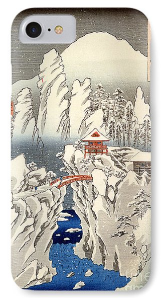 View Of Mount Haruna In The Snow IPhone Case by Hiroshige