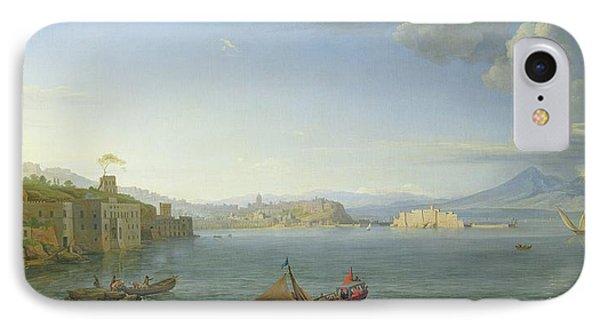 View Of Naples IPhone Case by Adrien Manglard