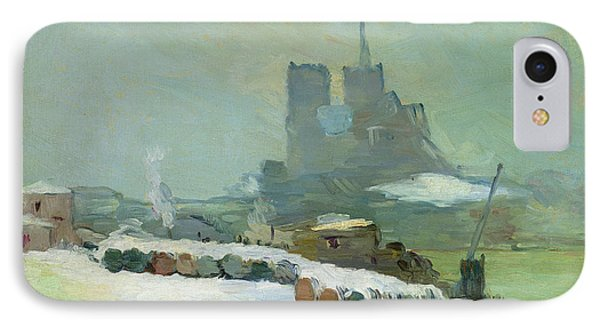 View Of Notre Dame, 1894 IPhone Case by Albert Charles Lebourg