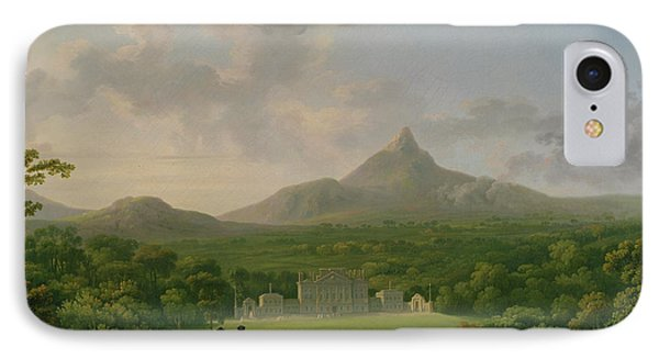 View Of Powerscourt - County Wicklow Phone Case by George the Elder Barret
