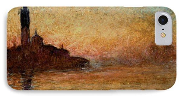 View Of San Giorgio Maggiore Venice By Twilight IPhone Case