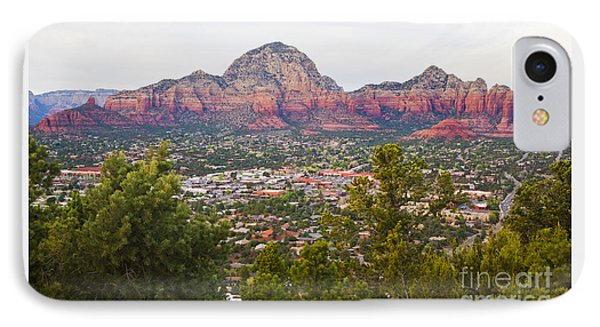 IPhone Case featuring the photograph View Of Sedona From The Airport Mesa by Chris Dutton