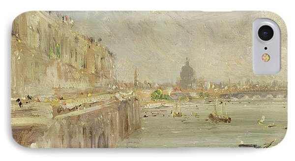 View Of Somerset House Terrace And St. Paul's IPhone Case by John Constable