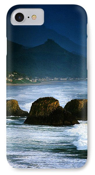 View Of Storm Over Cannon Beach From IPhone Case by Panoramic Images