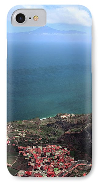 Canary iPhone 7 Case - View Of Teide From La Gomera by Cambion Art