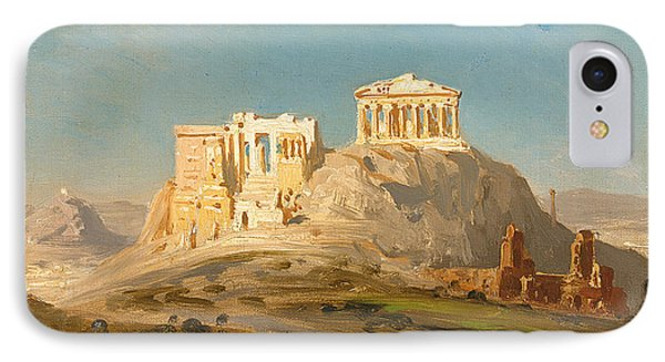 View Of The Akropolis Athens IPhone Case by Ernst Karl Eugen Koerner