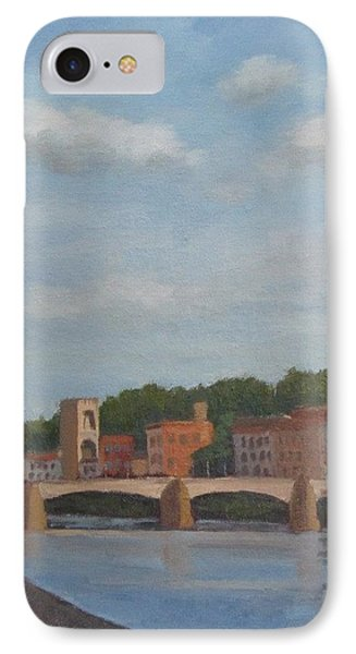 IPhone Case featuring the painting View Of The Arno 2 by Jennifer Boswell
