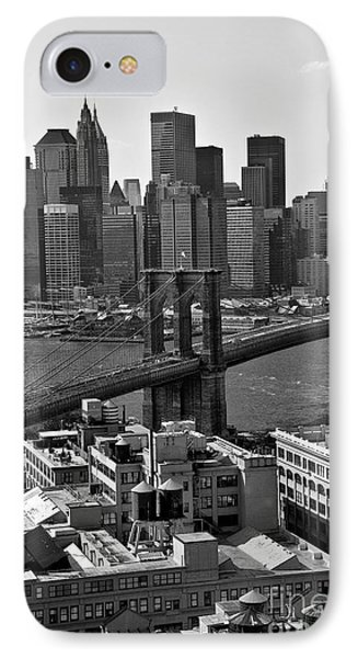 View Of The Brooklyn Bridge IPhone Case by Madeline Ellis