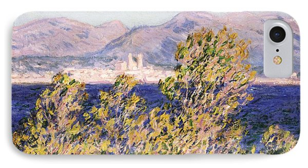 View Of The Cap Dantibes With The Mistral Blowing Phone Case by Claude Monet