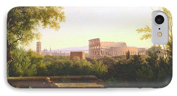 View Of The Colosseum From The Orti Farnesiani IPhone Case
