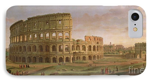View Of The Colosseum With The Arch Of Constantine IPhone Case