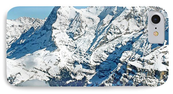 View Of The Eiger From The Piz Gloria IPhone Case