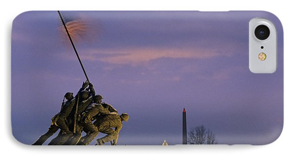 Capitol Building iPhone 7 Case - View Of The Iwo Jima Monument by Kenneth Garrett