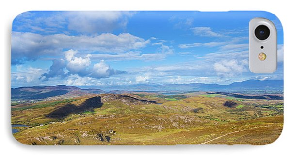 IPhone Case featuring the photograph View Of The Mountains And Valleys In Ballycullane In Kerry Irela by Semmick Photo