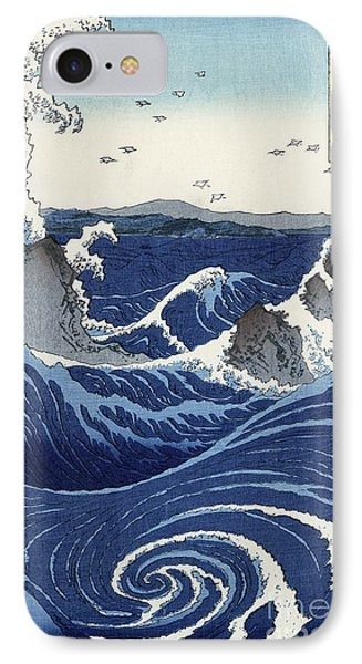 View Of The Naruto Whirlpools At Awa IPhone Case by Hiroshige