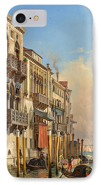View Of The Palazzetto Contarini Pheasant Conditions IPhone Case by Celestial Images