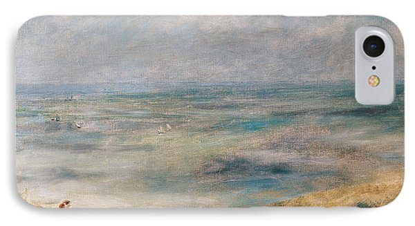 View Of The Sea Guernsey IPhone Case by Pierre Auguste Renoir