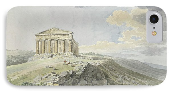 View Of The Temple Of Concord At Agrigento IPhone Case by MotionAge Designs