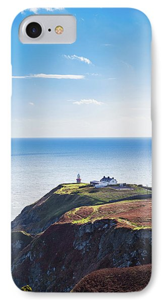 IPhone Case featuring the photograph View Of The Trails On Howth Cliffs With The Lighthouse In Irelan by Semmick Photo