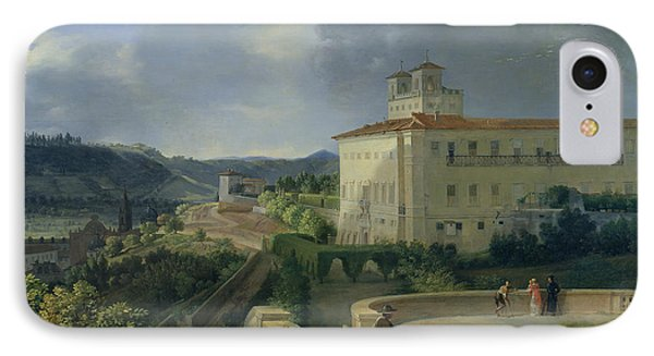 View Of The Villa Medici In Rome Phone Case by Nicolas Antoine Taunay