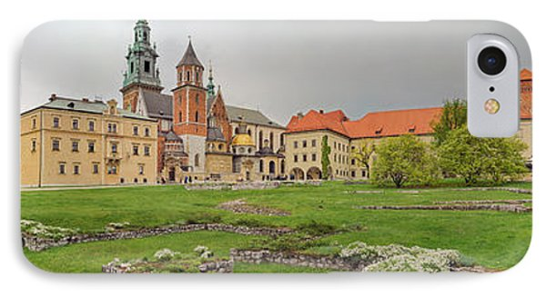View Of The Wawel Castle With The Wawel IPhone Case by Panoramic Images