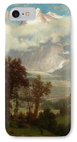 View Of The Wetterhorn From The Valley Of Grindelwald IPhone Case
