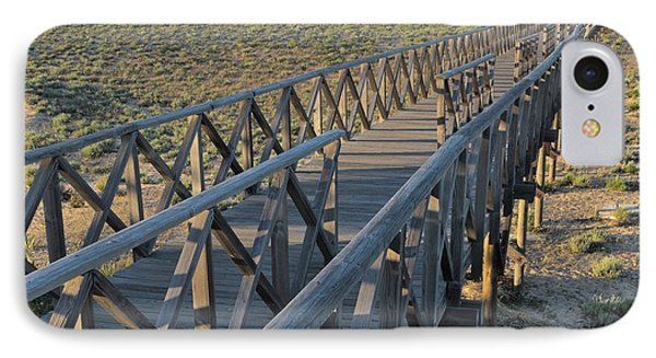 View Of The Wooden Bridge In Quinta Do Lago IPhone Case by Angelo DeVal