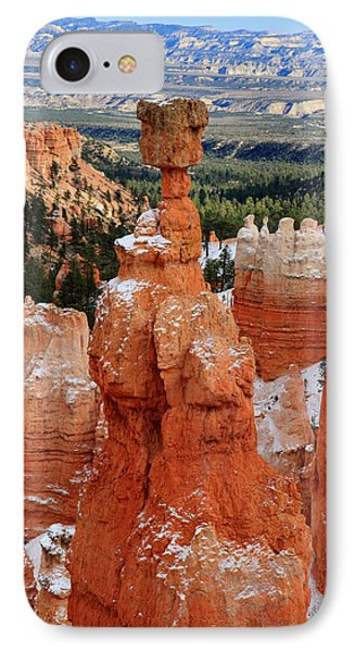 View Of Thor's Hammer In Bryce Canyon Phone Case by Pierre Leclerc Photography
