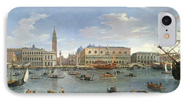 View Of Venice From The Island Of San Giorgio IPhone Case by Gaspar van Wittel