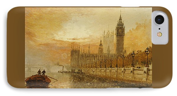 View Of Westminster From The Thames IPhone Case by Claude T Stanfield Moore